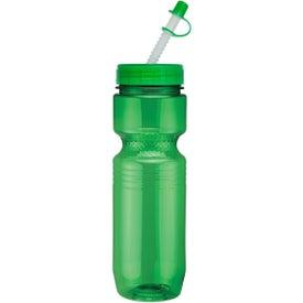 Imprinted Translucent Jogger Bottle with Straw Tip Lid