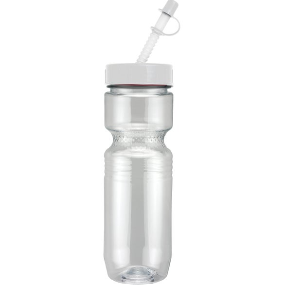 Clear Translucent Jogger Bottle with Straw Tip Lid