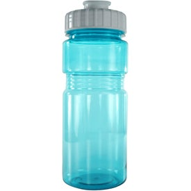 Company Translucent Recreation Bottle with Flip Top Lid