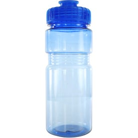 Imprinted Translucent Recreation Bottle with Flip Top Lid