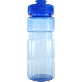 Imprinted Translucent Recreation Bottle with Flip Top Lid