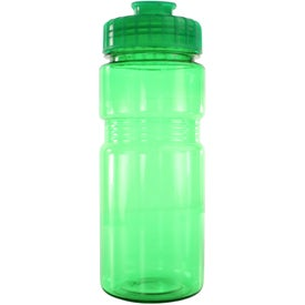 Translucent Recreation Bottle with Flip Top Lid Imprinted with Your Logo