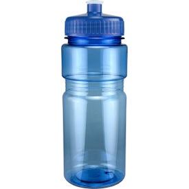 Imprinted Translucent Recreation Bottle with Push Pull Lid