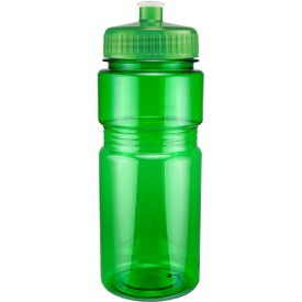 Custom Translucent Recreation Bottle with Push Pull Lid