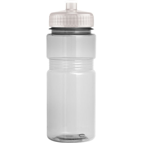 Clear Translucent Recreation Bottle with Push Pull Lid