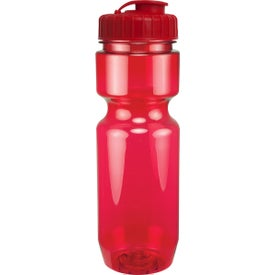 Translucent Bike Bottle With Flip Top Lid with Your Logo