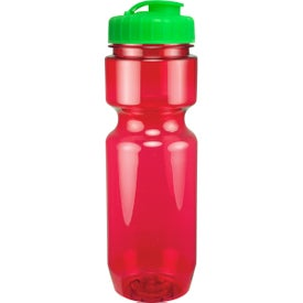 Branded Translucent Bike Bottle With Flip Top Lid