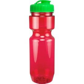 Branded Translucent Bike Bottle With Flip Top Lid