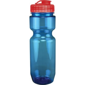 Translucent Bike Bottle With Flip Top Lid Imprinted with Your Logo