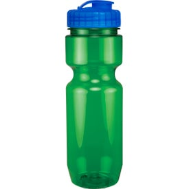 Translucent Bike Bottle With Flip Top Lid for Customization