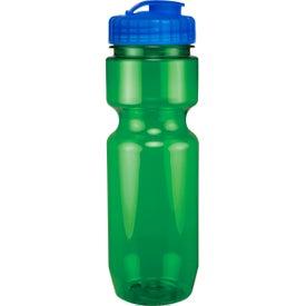 Translucent Bike Bottle With Flip Top Lid for Customization