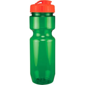 Custom Translucent Bike Bottle With Flip Top Lid