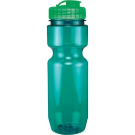 Translucent Bike Bottle With Flip Top Lid with Your Slogan