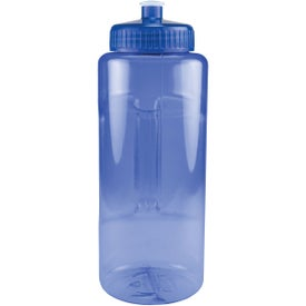 Promotional Grip and Sip Bottle with Push Pull Lid
