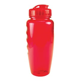 Logo Translucent Poly Pure Bottle with Push Pull Lid