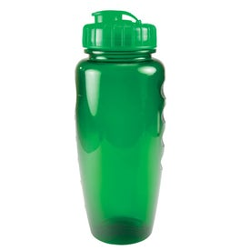Translucent Poly Pure Bottle with Push Pull Lid with Your Slogan
