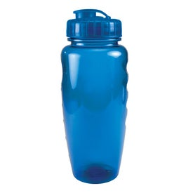 Translucent Poly Pure Bottle with Push Pull Lid for Your Organization