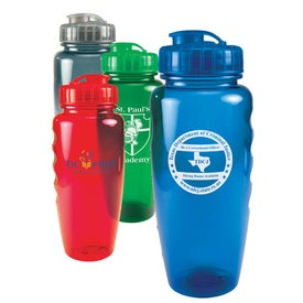 Translucent Poly Pure Bottle with Push Pull Lid (28 Oz.)