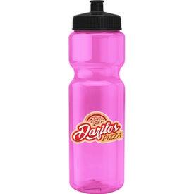 Imprinted Transparent Bottle