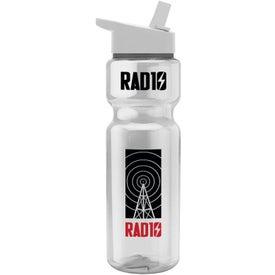 Translucent Bottle with Flip Straw Lid (28 Oz.)