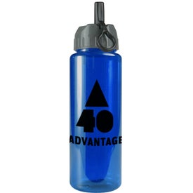 Logo Transparent Guzzler Bottle with Flip Straw Lid