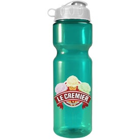 Transparent Olympian Bottle With Flip Lid (Full Color, 28 Oz.)