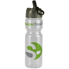 Printed Transparent Olympian Bottle With Flip Straw Lid