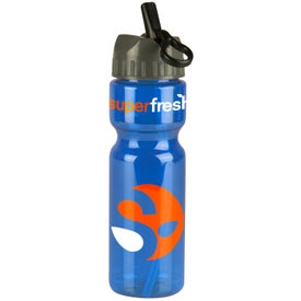 Transparent Olympian Bottle With Flip Straw Lid Printed with Your Logo
