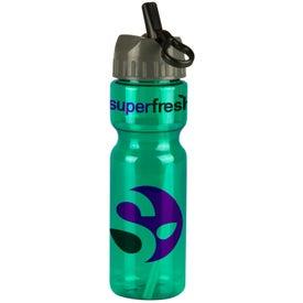 Custom Transparent Olympian Bottle With Flip Straw Lid