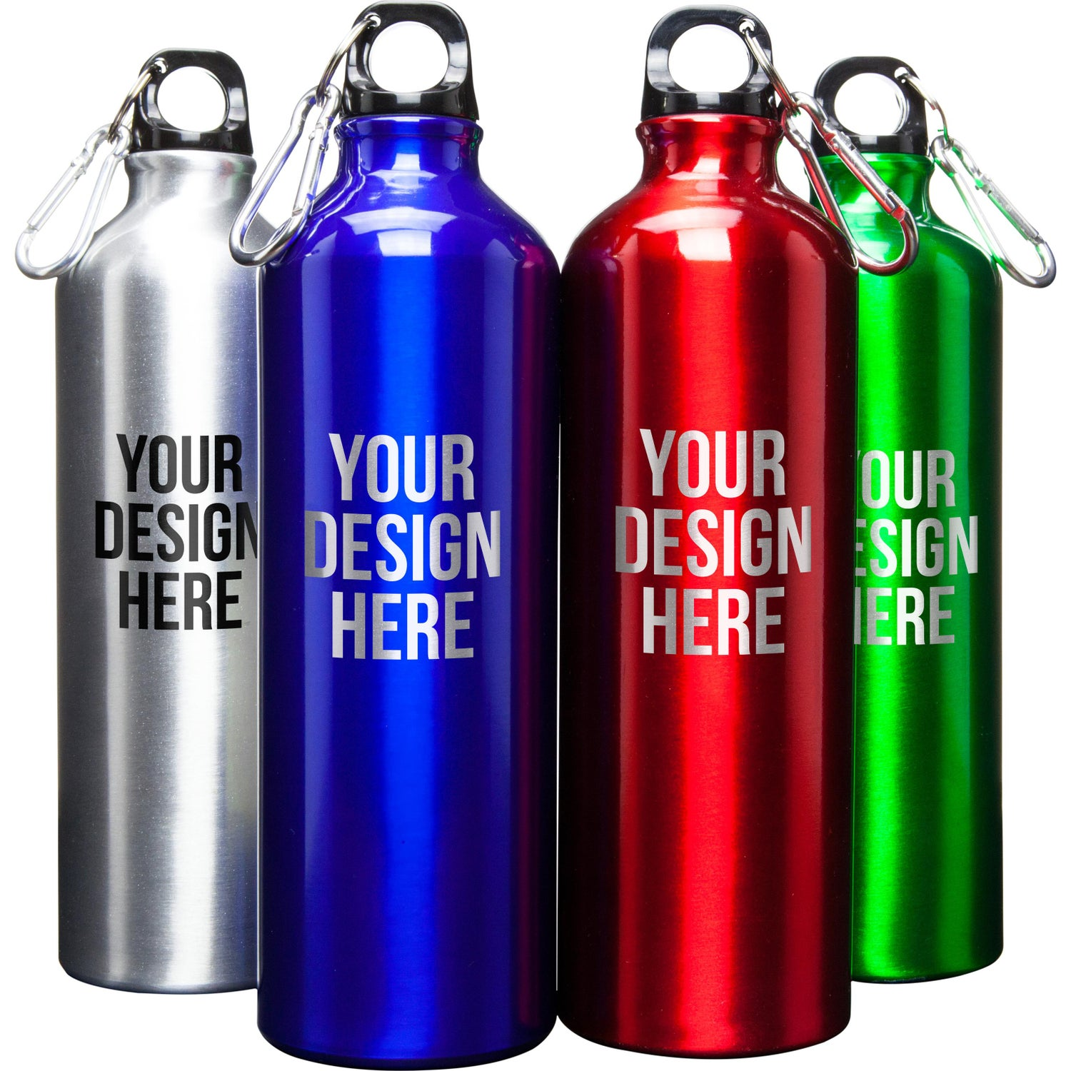 Water Bottle Personalised: Promotional 25 Oz. Alpine Aluminum Water Bottles With