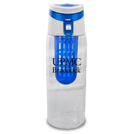 Trendy Sport Bottle with Fruit Infuser Branded with Your Logo