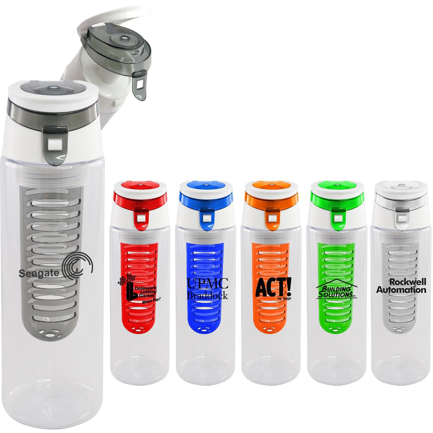 promotional 22 oz trendy sport bottle with fruit infusers with custom logo for 2 59 ea