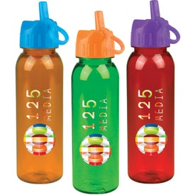 Tritan Bottle With Flip Straw Lid for your School