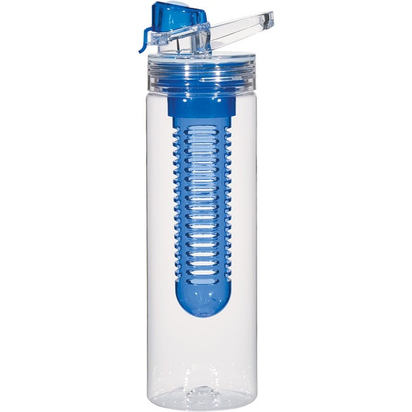 Clear / Blue Tritan Flavor Infuser Bottle