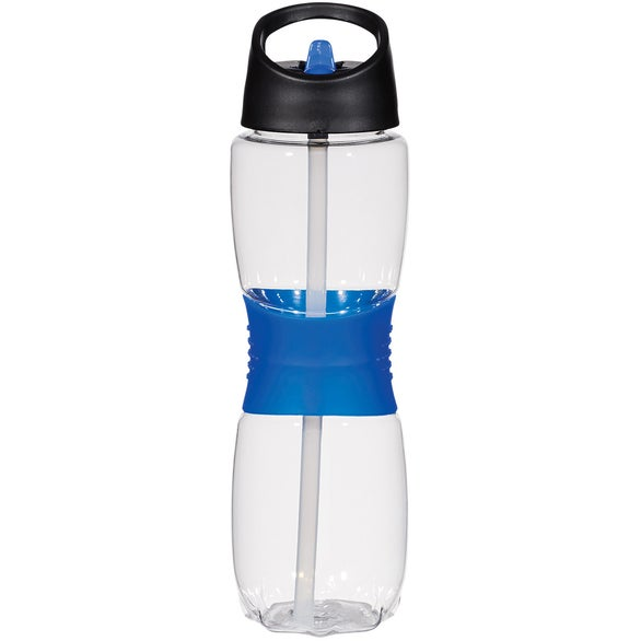 Clear / Blue Tritan Hourglass Sports Bottle