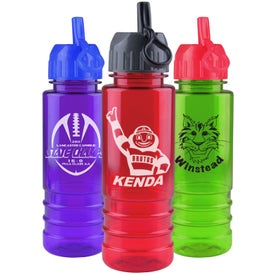 Tritan Salute Bottle with Flip Straw Lid with Your Logo