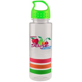 Tritan Stripe Bottle With Crest Lid, Full Color (24 Oz.)