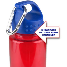 Tritan Stripe Bottle with Crest Lid Imprinted with Your Logo