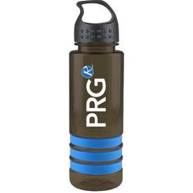 Tritan Stripe Bottle with Crest Lid for Marketing