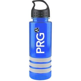 Tritan Stripe Bottle with Crest Lid for Promotion