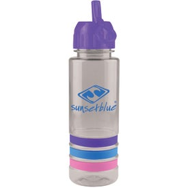 Tritan Stripe Bottle with Flip Straw Giveaways