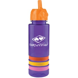 Tritan Stripe Bottle with Flip Straw for Marketing