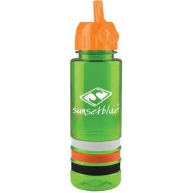 Tritan Stripe Bottle with Flip Straw for Customization