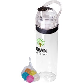 Tritan Traveler Water Bottle and Ice Cubes Set (20 Oz.)