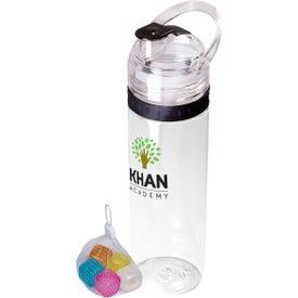 Tritan Traveler Water Bottle and Ice Cubes Set (20 Oz.)