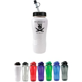 Twist Bottle With Straw Tip Lid with Your Logo