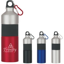 Personalized Two-Tone Aluminum Bottle With Rubber Grip