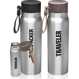 Vacuum Insulated Water Bottle with Carrying Strap (17 Oz.)