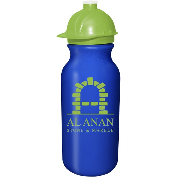 Blue Value Cycle Bottle with Safety Helmet Push 'N Pull Cap