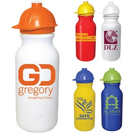 Value Cycle Bottle with Safety Helmet Push 'N Pull Cap (20 Oz.)